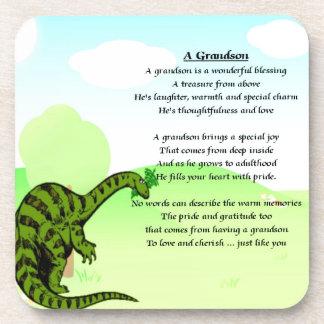 Grandson Poem - Dinosaur Beverage Coaster