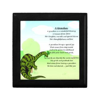 Grandson Poem - Dinosaur Trinket Box