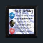 "Grandson Poem  -  Happy Birthday Jewelry Box<br><div class=""desc"">A great gift for a grandson on his birthday</div>"