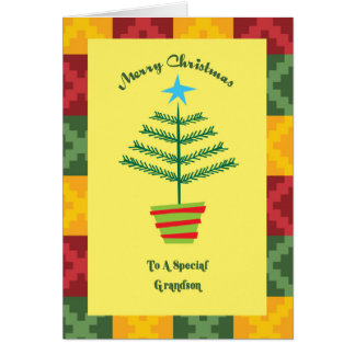 Grandson Primsy Christmas Card