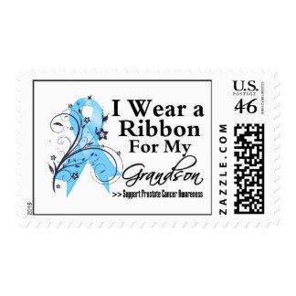 Grandson Prostate Cancer Ribbon Stamps