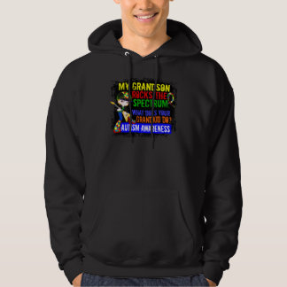 Grandson Rocks The Spectrum Autism Hooded Pullover