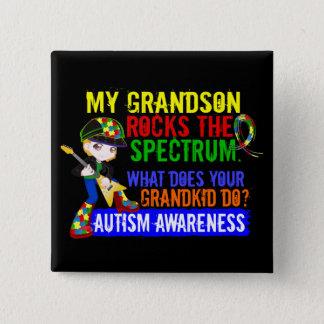 Grandson Rocks The Spectrum Autism Pinback Button