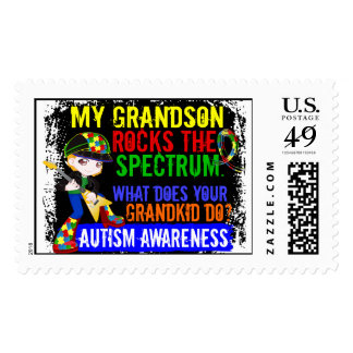 Grandson Rocks The Spectrum Autism Postage Stamps