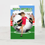 "Grandson Soccer Football Birthday Greeting Card<br><div class=""desc"">Soccer / Football Birthday Greeting Card</div>"