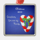 Grandson, You are my Heart. Christmas Ornaments