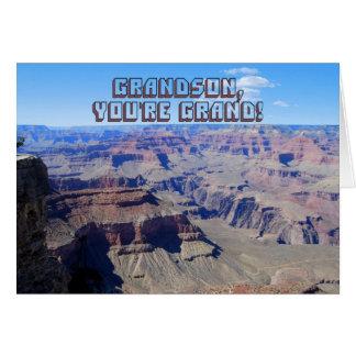 Grandson, You're Grand! Grand Canyon Birthday Card