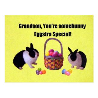 Grandson, You're somebunny eggstra special! Postcard