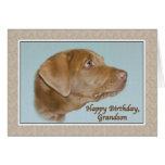 Grandson's Birthday Card with Labrador Dog