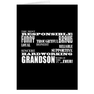 Grandsons Birthdays & Christmas : Qualities Card