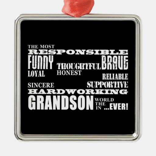 Grandsons Birthdays & Christmas : Qualities Christmas Tree Ornaments