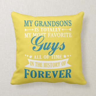 Grandsons Forever Throw Pillow
