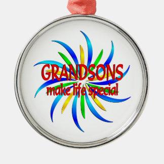 Grandsons Make Life Special Metal Ornament