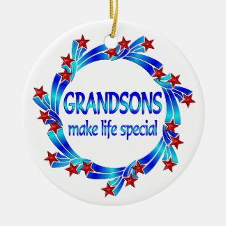 Grandsons Make Life Special Christmas Tree Ornaments