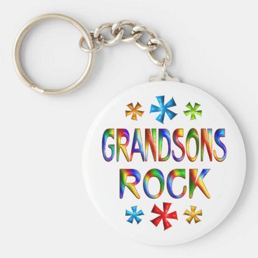 GRANDSONS ROCK BASIC ROUND BUTTON KEYCHAIN