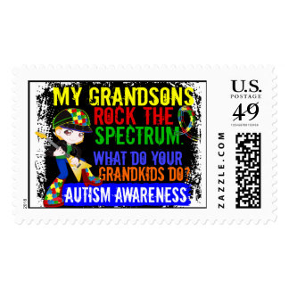 Grandsons Rock The Spectrum Autism Postage Stamps