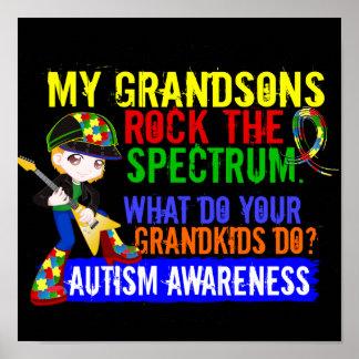 Grandsons Rock The Spectrum Autism Print