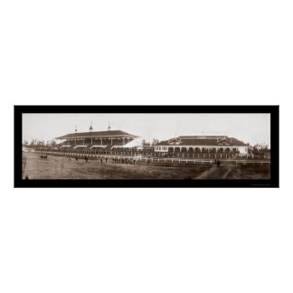 Grandstand Santa Anita Photo 1908 Poster