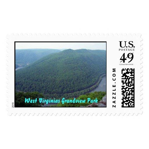 Grandview1, parque del oeste de Virginias Sellos