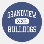 Grandview Bulldogs Middle Grandview Missouri Round Sticker