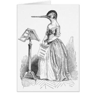 Grandville Anthropomorphic Bird Blank Note Card
