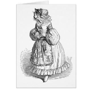 Grandville Anthropomorphic Cat Blank Note Card