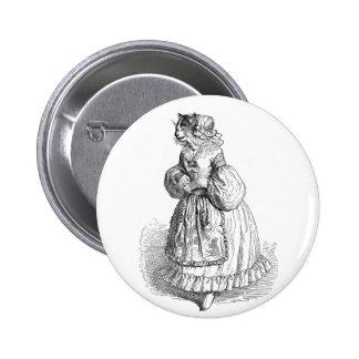 Grandville Anthropomorphic Cat Illustration Button