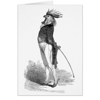 Grandville Anthropomorphic Rooster Blank Note Card