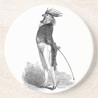 Grandville Anthropomorphic Rooster Coaster