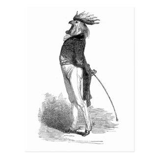 Grandville Anthropomorphic Rooster Postcard