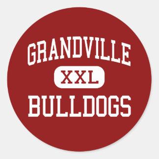 Grandville - Bulldogs - High - Grandville Michigan Classic Round Sticker
