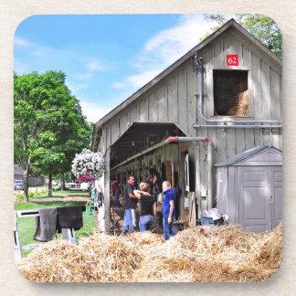 Granero #62 en el asilo del caballo - Saratoga Posavasos De Bebidas