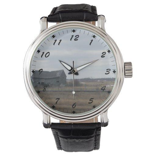 Granero abandonado viejo reloj
