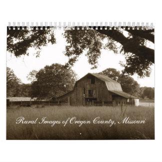 Granero abandonado vintage en el Ozarks Calendarios De Pared