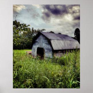 granero americano - Carolina del Norte rural Póster