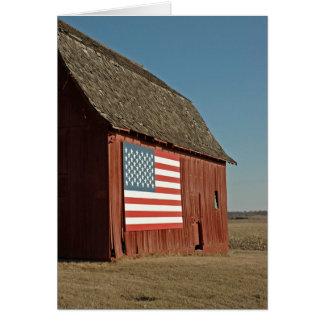 Granero americano tarjeta de felicitación