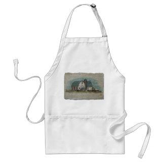 Granero blanco grande de Amish Delantal