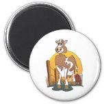Granero de Guernesey de la vaca del dibujo animado Iman Para Frigorífico
