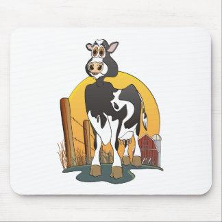 Granero de Holstein de la vaca del dibujo animado Tapetes De Ratones