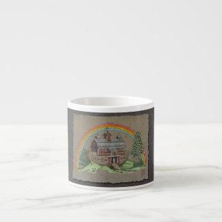 Granero de la arca de Noah Taza De Espresso
