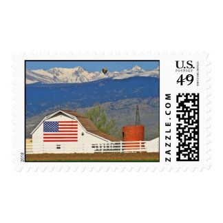 Granero de la bandera americana sellos