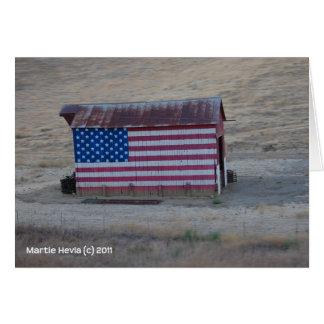 Granero de la bandera americana tarjeta pequeña
