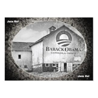 Granero de la campaña presidencial de Barack Obama Invitación 12,7 X 17,8 Cm