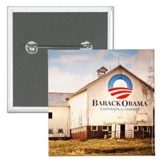Granero de la campaña presidencial de Barack Obama Pin Cuadrado