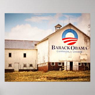 Granero de la campaña presidencial de Barack Obama Póster