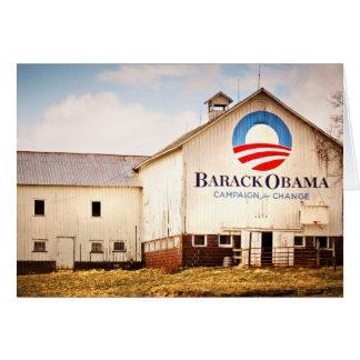 Granero de la campaña presidencial de Barack Obama Tarjeta De Felicitación