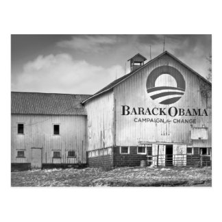 Granero de la campaña presidencial de Barack Obama Tarjeta Postal