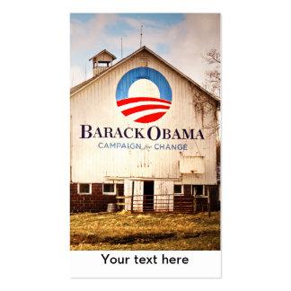 Granero de la campaña presidencial de Barack Obama Tarjetas De Visita