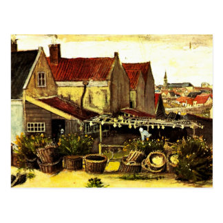 Granero de la Pescado-Sequedad de Vincent van Gogh Tarjeta Postal