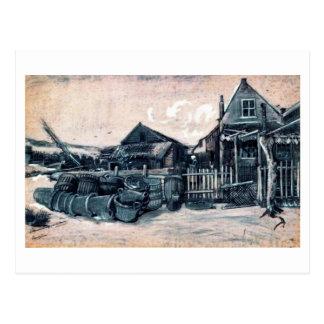 Granero de la Pescado-Sequedad, Vincent van Gogh Tarjetas Postales